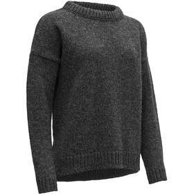 Devold Nansen Sweater mit geschlitztem Saum Damen anthracite